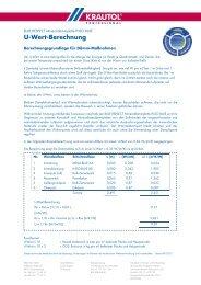 U-Wert-Berechnung - Krautol