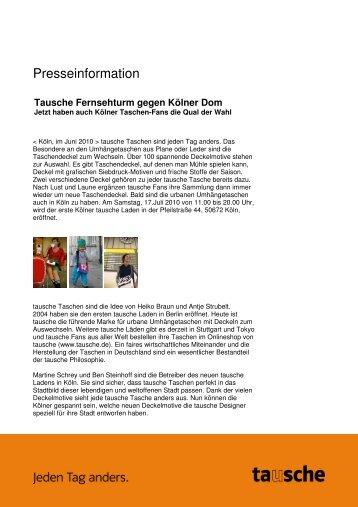 Tausche Fernsehturm gegen Kölner Dom - Agentur für kreative PR