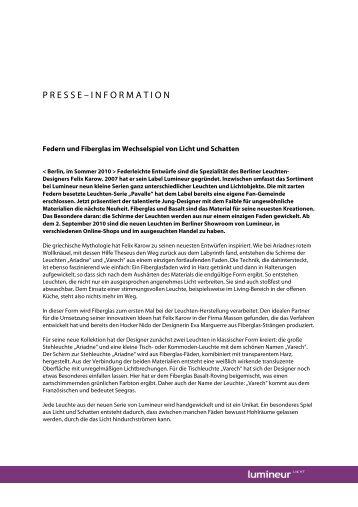 PM_Lumineur_Federleichte Entwürfe - Agentur für kreative PR