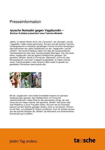 Berliner Kultlabel präsentiert neue Taschen-Modelle - Agentur für ...