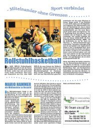 Rollstuhlbasketball - KREATIVHAUS Berlin
