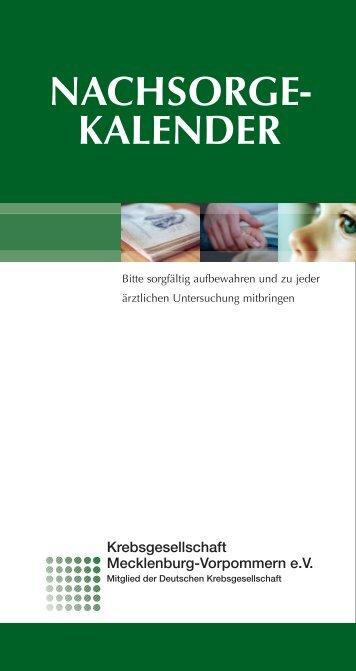 NACHSORGE- KALENDER - Krebsgesellschaft MV