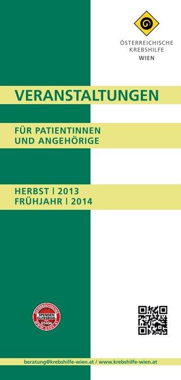 Veranstaltungsprogramm 2013/14.pdf - Wiener Krebshilfe