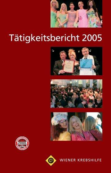 Tätigkeitsbericht 2005 - Wiener Krebshilfe