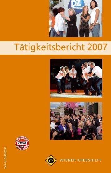 Jahresbericht 2007.pdf - Wiener Krebshilfe