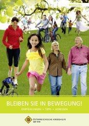 BLEIBEn SIE In BEwEgung! - Österreichische Krebshilfe