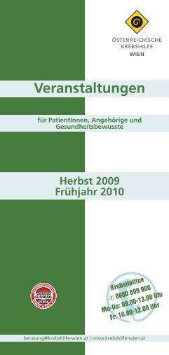 Veranstaltungen - Wiener Krebshilfe