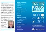 tag der krebs- selbsthilfe 2011 - Deutsche Krebshilfe eV