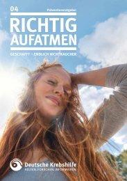 Endlich aufatmen! - Nichtrauchen - Deutsche Krebshilfe eV