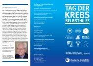 tag der krebs- selbsthilfe 2010 - Deutsche Krebshilfe eV