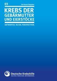 RATGEBER Krebs der Gebärmutter und Eierstöcke - Deutsche ...