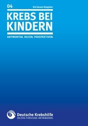 004 Krebs bei Kindern - Deutsche Krebshilfe eV