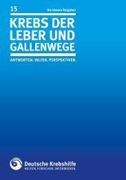 Krebs der Leber und Gallenwege - Deutsche Krebshilfe eV