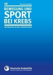 Bewegung und sPort Bei kreBs - Deutsche Krebshilfe eV