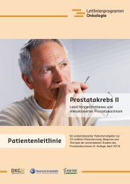 lokal fortgeschrittenes oder metastasiertes Prostatakarzinom