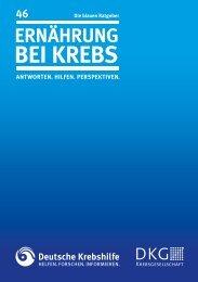 046 Ernährung bei Krebs - Deutsche Krebshilfe eV