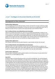 Nierenkrebs - Deutsche Krebshilfe eV