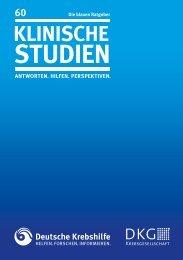 Blauer Ratgeber Klinische Studien - Deutsche Krebshilfe eV