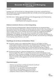 Gesunde Ernährung und Bewegung - Deutsche Krebshilfe eV