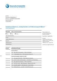 Fax-Bestellformular - Deutsche Krebshilfe eV