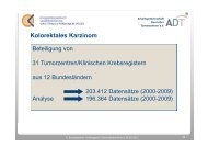 Kolorektales Karzinom - Krebsregister Rostock