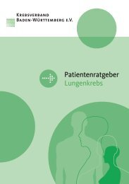 Patientenratgeber Lungenkrebs - Krebsverband Baden-Württemberg
