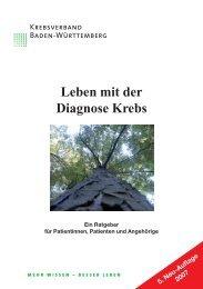 Leben mit der Diagnose Krebs - Krebsverband Baden-Württemberg