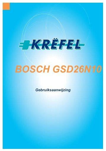 BOSCH GSD26N10