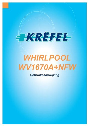 WHIRLPOOL WV1670A+NFW