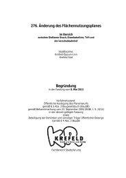 276. Änderung des Flächennutzungsplanes Begründung - Krefeld
