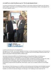 cit intelliForm erhält Zertifizierung für TSA-Zuständigkeitsfinder