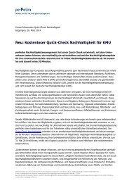 Neu: Kostenloser Quick-Check Nachhaltigkeit für KMU