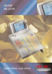 13826 Sharp ER-A770 CashReg - A&K Cash Registers