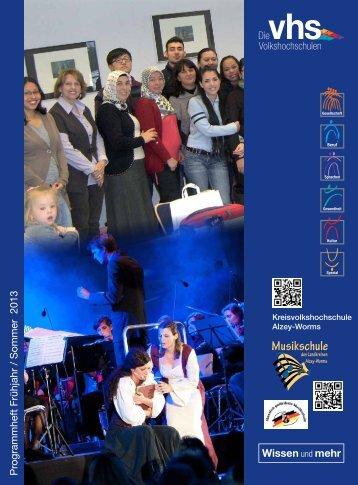 Programmheft Volkshochschule 2013/1. Semester - Landkreis Alzey ...