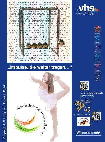 Programmheft Volkshochschule 2014/1. Semester - Landkreis Alzey ...