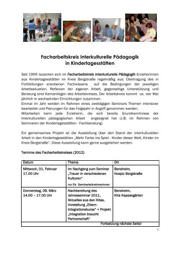 Facharbeitskreis Interkulturelle Pädagogik in ... - Kreis Bergstraße