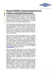 Blanke PERMAT: Promotionkampagne mit Formel-1 Jubiläums-Kollektion