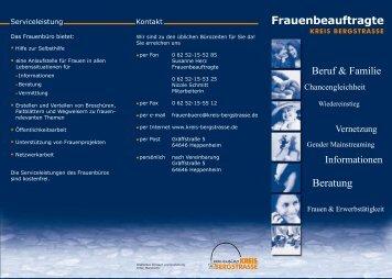 Beratung Frauenbeauftragte - Kreis Bergstraße