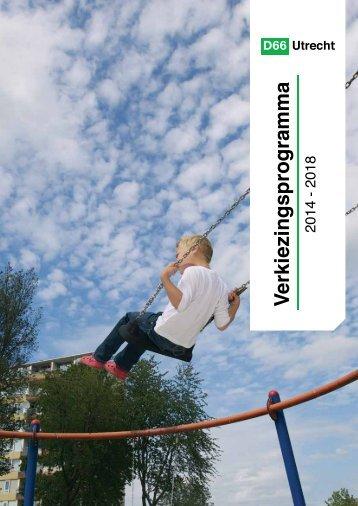 D66_Utrecht_Verkiezingsprogramma_2014-2018