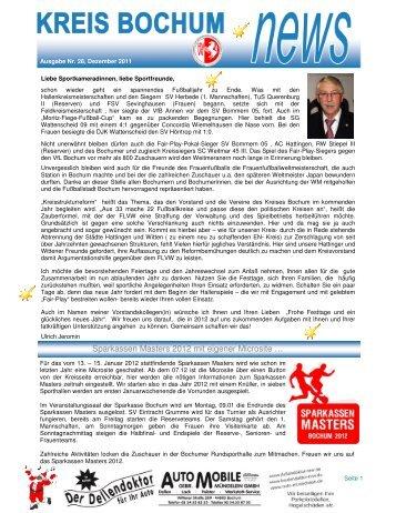 Sparkassen Masters 2012 mit eigener Microsite … - Kreis Bochum