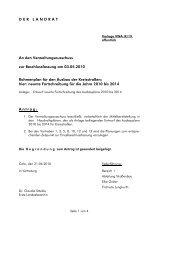 Rahmenplan für den Ausbau der Kreisstraßen - Landkreis Calw