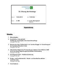 22. Sitzung des Kreistags - Landkreis Calw
