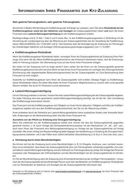 Informationen Ihres Finanzamtes Zur Kfz Zulassung