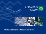 Auswertung der Unternehmensbefragung - Landkreis Calw