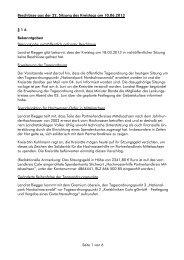 Beschlüsse aus der 22. Sitzung des Kreistags am ... - Landkreis Calw