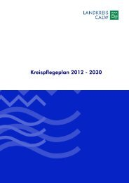 Kreispflegeplan 2012 - 2030 - Landkreis Calw