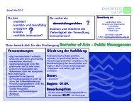 Bachelor of Arts - Public Management - Landkreis Calw