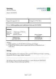 Kreistag - Landkreis Calw