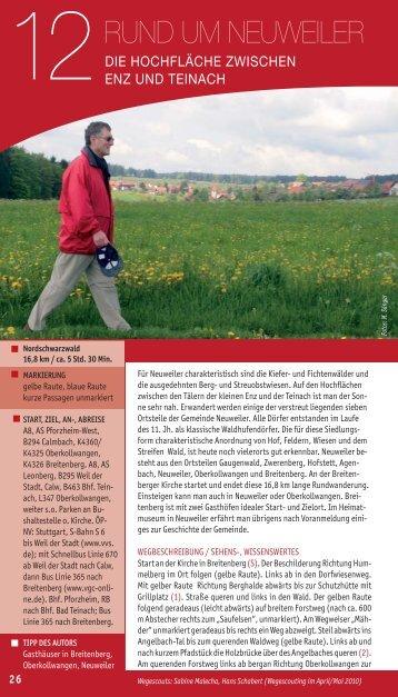 Rund um Neuweiler: Auf der Hoch̀äche zwischen Enz und Teinach