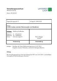 K 4334, Ausbau zwischen Ettmannsweiler und ... - Landkreis Calw
